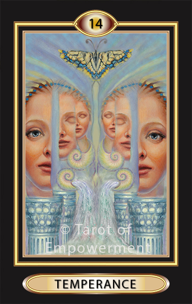 The Temperance Card - Tarot of Empowerment Deck by Judith Sult and Gordana Curtis