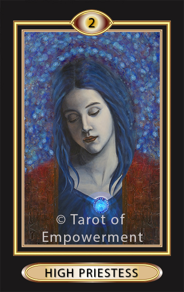 The High Priestess Card - Tarot of Empowerment Deck by Judith Sult and Gordana Curtis
