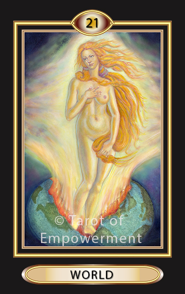 The World Card - Tarot of Empowerment Deck by Judith Sult and Gordana Curtis