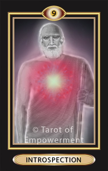 The Introspection Card - Tarot of Empowerment Deck by Judith Sult and Gordana Curtis