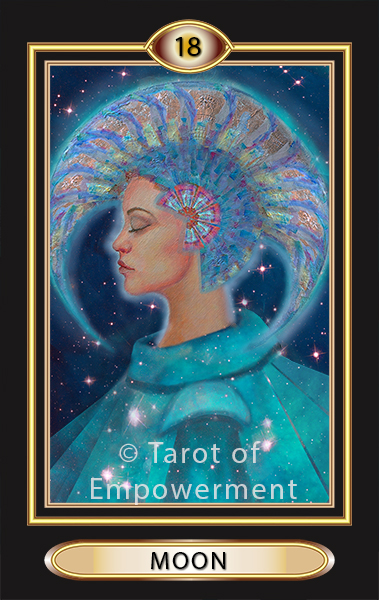 moon - tarot of empowerment major arcana deck scroll