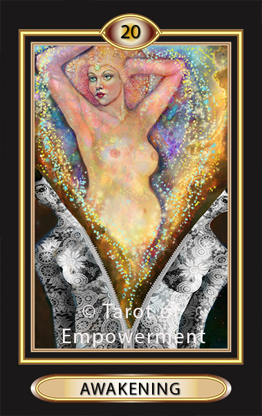 The Awakening Card (traditional Judgement) - Tarot of Empowerment Deck by Judith Sult and Gordana Curtis