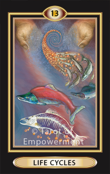 The Life Cycles Card - Tarot of Empowerment Deck by Judith Sult and Gordana Curtis