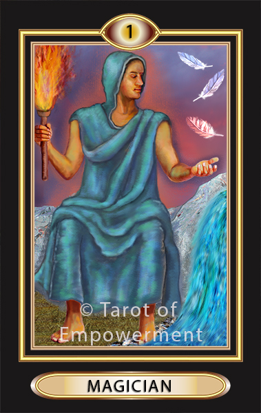 The Magician Card - Tarot of Empowerment Deck by Judith Sult and Gordana Curtis