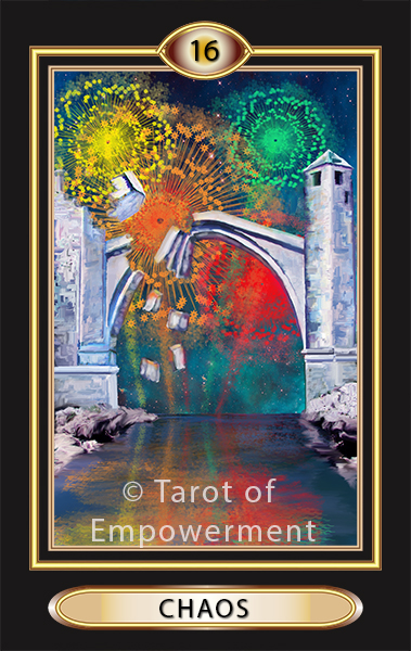 The Chaos Card - Tarot of Empowerment Deck by Judith Sult and Gordana Curtis