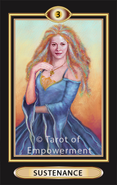 The Sustenance Card - Tarot of Empowerment Deck by Judith Sult and Gordana Curtis