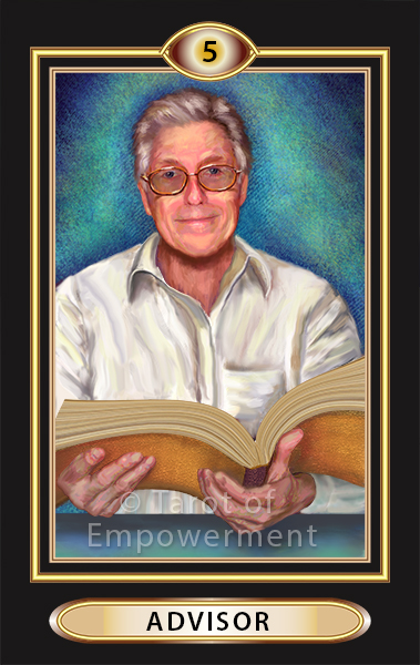 The Advisor Card - Tarot of Empowerment Deck by Judith Sult and Gordana Curtis