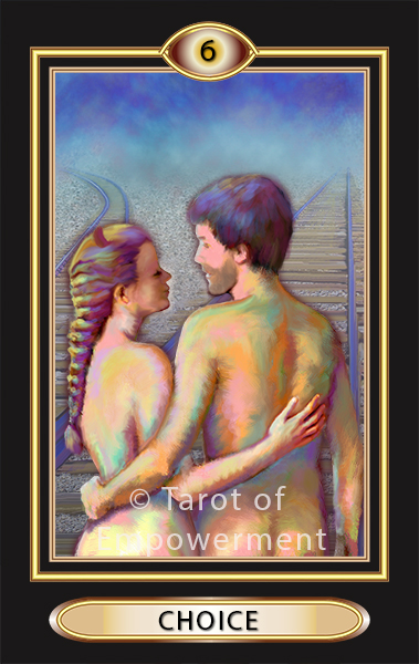 The Choice Card - Tarot of Empowerment Deck by Judith Sult and Gordana Curtis