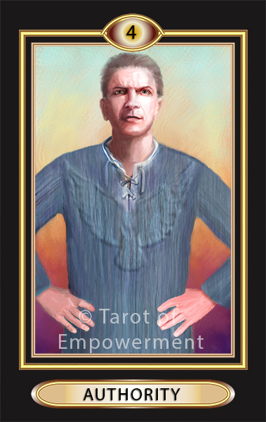 The Authority Card - Tarot of Empowerment Deck by Judith Sult and Gordana Curtis