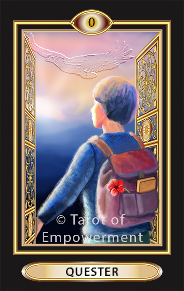 The Quester Card - Tarot of Empowerment Deck by Judith Sult and Gordana Curtis